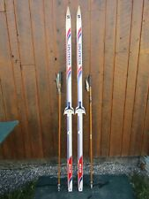 """Ready to Use Cross Country 77"""" Long  200 cm Skis +  Poles"""