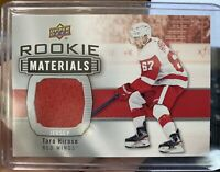2019-20 UD Series 2 Hockey Rookie Materials RM-TH Taro Hirose Jersey Red Wings
