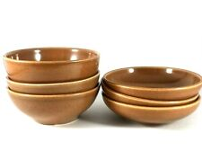6 IROQUOIS CASUAL APRICOT BOWLS 8oz & 10oz Russell Wright Orange 1950-67