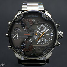 DIESEL DZ7315 Mr.Daddy Cronógrafo Reloj De Hombre Acero inox. 4 Huso Horario