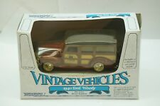 VINTAGE ERTL DIECAST TOY CAR VINTAGE VEHICLES RARE '40 FORD WOODY WAGON 1:43 MIB