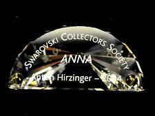 2004 Swarovski Crystal Scs Title Plaque Anna 656142 Austria Paper Weight Nib