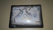 VINTAGE ACRA CHINA JAPAN SUSHI DRAGON BOX WITH 2 PLATES