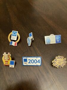 2004 Athens olympic pin lot, Greece summer games volunteer France