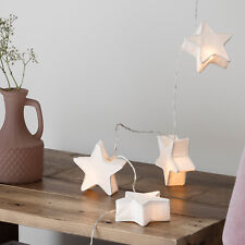 10 Star Paper Lantern Battery Operated LED Bedroom Christmas Fairy String Lights