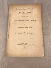 New listing 1861 The Character And Influence Of Abolitionism - A Sermon Preached In Brooklyn