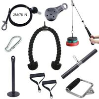 DIY Fitness Pulley Cable Gym Workout Equipment Machine Attachment Accessories