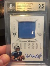 Marcus Mariota National Treasures Rookie Patch Auto /49 BGS 9.5