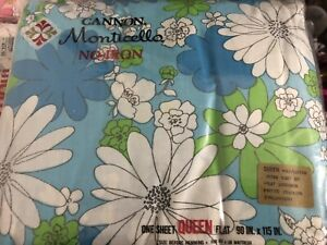 Vintage Floral Print Sheet set- Queen Bed. Cannon Monticello,