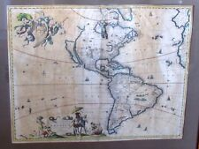 Original Antique Map WITSEN North & South America's Nicholas Visscher 1658