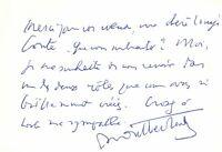 🌓 HENRY DE MONTHERLANT carte autographe signée à la comédienne LOUISE CONTE #2