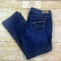 Seven7 Luxe Slim Boot Stretch Denim Jeans Women's Size 20 Dark Wash