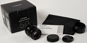 Fujifilm Fuji Fujinon XF 50mm F/2.0 WR Lens with Box, Hood and Caps
