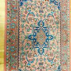 "Vintage Karastan Rug 2.10 x 5"" Medallion Serapi 736 Runner Wool Carpet Pink"