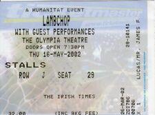 Lambchop  - ORIGINAL CONCERT TICKET - Olympia Theatre, Dublin, IRL - 16 May 2002