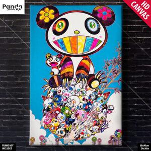 Takashi Murakami Panda Canvas Poster Flower Skull Tan Tan Bo Wall Art Print