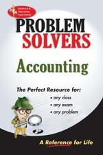 Accounting Problem Solver (Problem Solvers Solution Guides)-ExLibrary