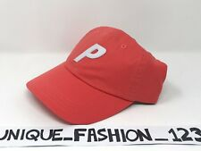 PALACE SKATEBOARDS FW16 6 PANEL P CAMP HAT CAP CAYENNE SALMON RED CURVED PEAK