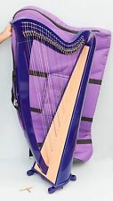 Mikel Saffron 34 Strings Lever Harp Blue Color Finish with Carry Bag