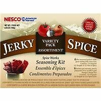 Jerky Spice SeasoningKit Hot and Spicy & Teriyaki Great for Beef Jerky by Nesco