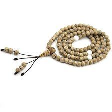 6mm Bodhi Seed Tridacna Shell Tibet Buddhist 108 Prayer Beads Mala Necklace
