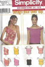 Simplicity Juniors Design Your Top 2 Tops 4 Ways Each #7020 Size 11/12 - 15/16