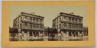 Italia Venezia Palais Stereo Vintage Albumina Ca 1865