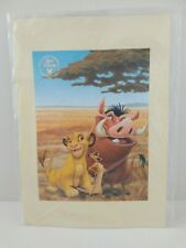 Walt Disney Studio Commemorative Lithograph 2003 Lion King 1 1/2 Sealed