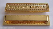 Agrafe barrette PREPARATIONS MILITAIRES pour ruban médailles militaires diverses