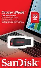 Sandisk 32GB 32 GB CZ50 Cruzer Blade USB 2.0 Flash Drive Speicherstick