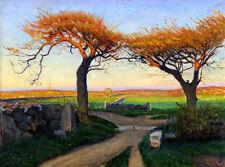 Richard Bergh : Landscape from Halland : 1895: Archival Quality Art Print