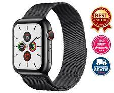 Cinturino Compatibile Apple Watch 5 4 3 2 1 Maglia Milanese 42/44 Nero SpaceGrey
