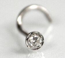 750 ECHT WEIßGOLD *** Zirkonia Nasenstecker diamantiert 3 mm