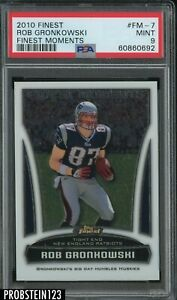 2010 Topps Finest Moments Rob Gronkowski New England Patriots RC Rookie PSA 9