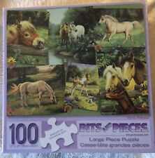 "HORSE POSTCARD 100 Piece Art Puzzle by Linda Picken Large Format New 15""x19"""