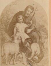 RARE SAINT St JOSEPH au repos CDV RELIGION 10,5 x 6,5 cm