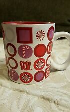 Home Target Stoneware Red and White Winter Candy Cane  Jumbo Mug, New