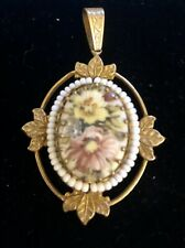 MIRIAM HASKELL HAND PAINTED PENDANT