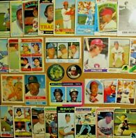1964/70's+ Lot w/1973 Topps #615 Mike Schmidt (RC) Yount/Bench/Killebrew/Mathews