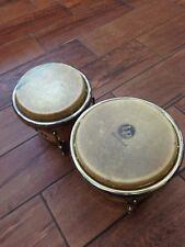 """Vintage Latin Percussion LP Caliente 7"""" & 8"""" Wood Bongos"""