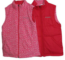 Columbia Front Zipper Reversible Pink Insulated Vest Jacket NWT Girl's Size L