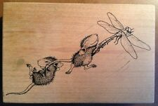 House Mouse Rubber Stamp Santa Rosa Dragonfly-ing