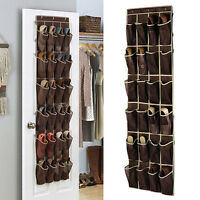 24 Pocket Hanging Over Door Shoe Organiser Storage Rack Bag Box Holder Wardrobe#