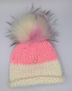 Cupcake Hat with Earflaps - Hot Pink