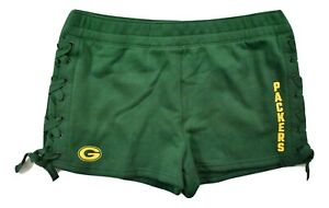 Junk Food Womens NFL Green Bay Packers Lace-Up Side Shorts New XS-2XL