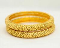 Designer Fashion Bracelet Gold Plated Brass Bangles Bridal Indian Jewellery Set