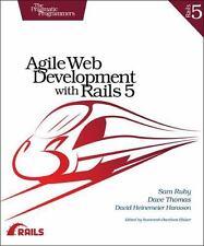 AGILE WEB DEVELOPMENT WITH RAILS 5 - RUBY, SAM/ THOMAS, DAVE/ HANSSON, DAVID HEI