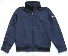 Tommy Hilfiger Mens Yacht Jacket Windbreaker, Navy Blue