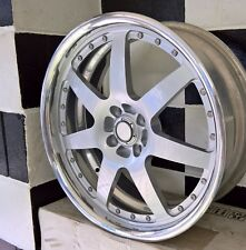 18x7 4/100 2 PIECE FORGED ROJA AMERICAN MADE WHEELS