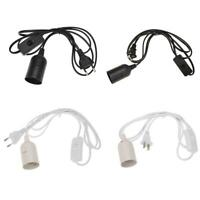E27 Lamp Bases with Switch Wire for Pendant Bulb Hang Light Lamp Socket Holder